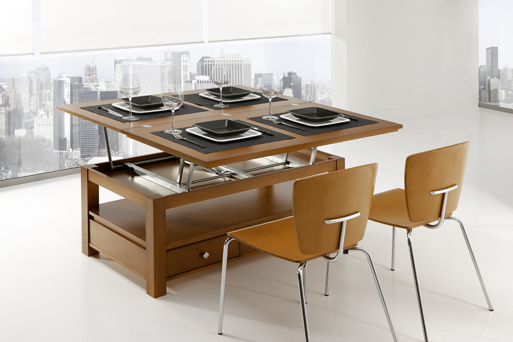 Muebles nina - Mesa centro convertible en mesa comedor ...